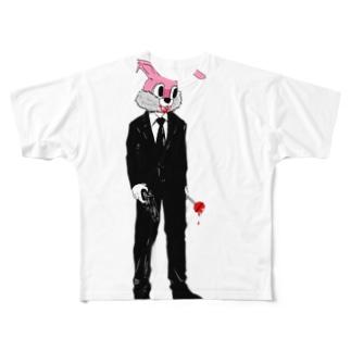 キラーハニーバニー Full graphic T-shirts