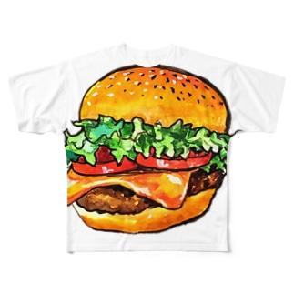 テイクアウトしたくなるハンバーガー Full graphic T-shirts