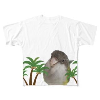 【夏】ユウギリインコ Full graphic T-shirts