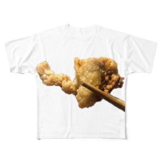 福井県みたいな形の唐揚げ Full graphic T-shirts