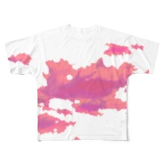 アカネ Full graphic T-shirts