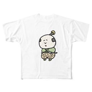 ノーパン侍 Full graphic T-shirts