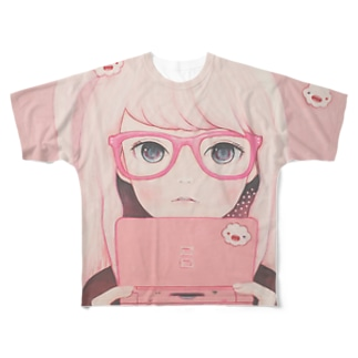 Gamegirl Girl Full graphic T-shirts