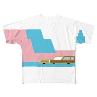久保誠二郎 オフィシャルグッズのCAR 001 Full graphic T-shirts