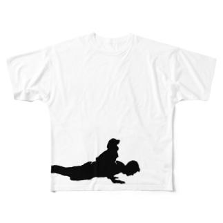 Training Buddy 腕立て伏せ All-Over Print T-Shirt