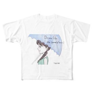 雨の音は好き? Full graphic T-shirts
