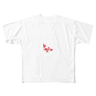 mamochanmanの病みくま Full graphic T-shirts