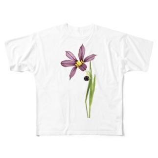 庭石菖/ニワゼキショウ Full graphic T-shirts