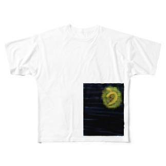 シンプルショップのうそ月 Full graphic T-shirts