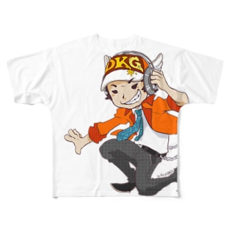 でき心。のアイコンのキャラクターカラー版 Full graphic T-shirts