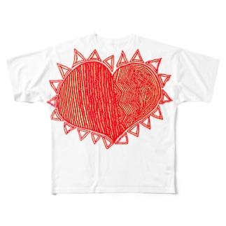 理性 感情 防衛 無防備 Full graphic T-shirts
