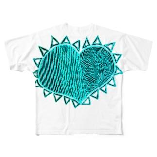 『理性 感情 防衛 無防備』 NEGA Full graphic T-shirts