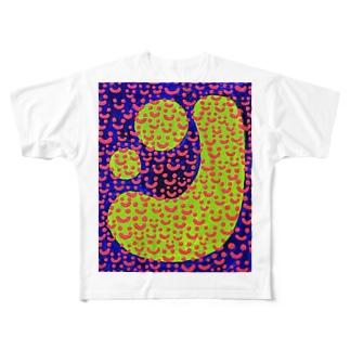 つぶつぶsmile Full graphic T-shirts