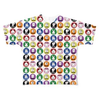 鮭オーケストラ-Shakë Orchëstra-の花壁 Full graphic T-shirts