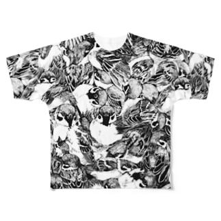 スズメ柄T Full Graphic T-Shirt