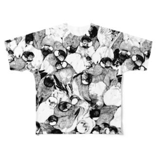 文鳥T Full Graphic T-Shirt