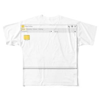 架空のOSのウインドウ・フォルダー画面 Full graphic T-shirts