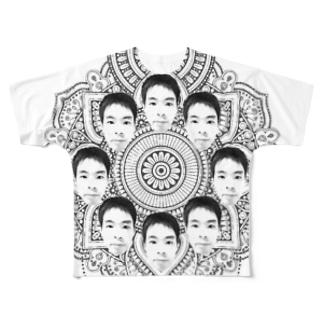 ヤマト総会-曼荼羅-フルグラ Full graphic T-shirts