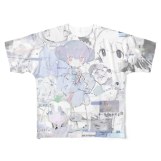 ゆーきん×砂気球 Full graphic T-shirts