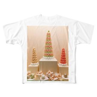 マカロンタワー Full graphic T-shirts