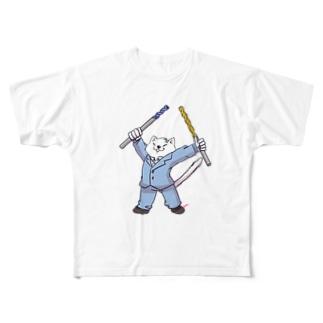 工具大好きニャー Full graphic T-shirts