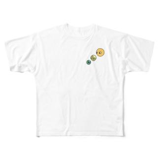 空模様のs.m.a Full graphic T-shirts