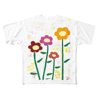 お花 Full graphic T-shirts