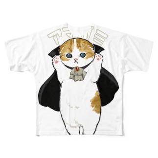 ドラキュラにゃん Full graphic T-shirts