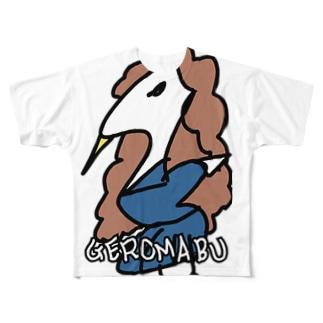 ゲロマブ鶴スケバン Full graphic T-shirts