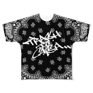 yanchasticのtrash to cash×Paisley Full graphic T-shirts
