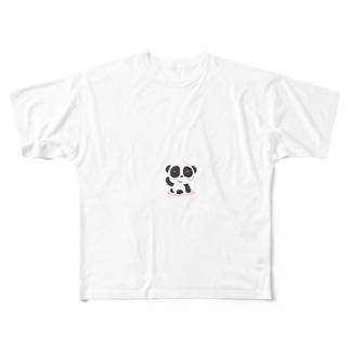 TK-marketの愛想が良い パンダ Tシャツ Full graphic T-shirts