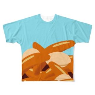 青空柿ピー Full graphic T-shirts