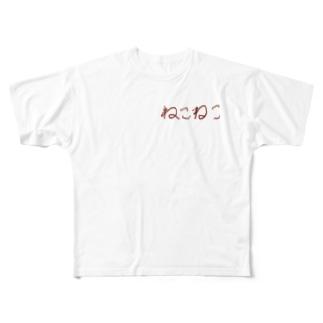 markyのねこねこ Full graphic T-shirts