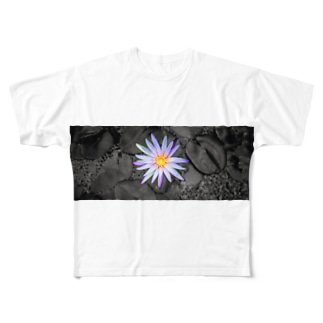百瀬のハスの花 Full graphic T-shirts