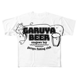 ガル屋釣部Tシャツ プリントでかい Full graphic T-shirts