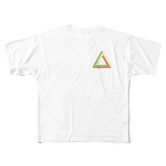三角形 Full graphic T-shirts