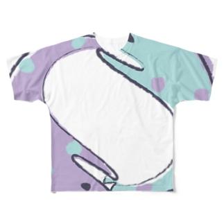 ぐるぐるうつぼ Full graphic T-shirts