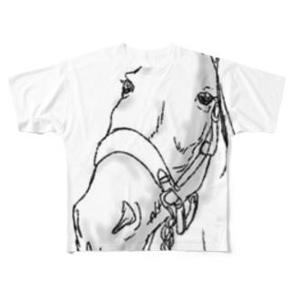 馬 Full graphic T-shirts