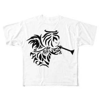 天使のモーニングコール Full graphic T-shirts