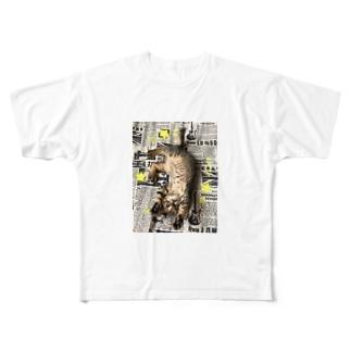 仔猫のtiro  Full graphic T-shirts