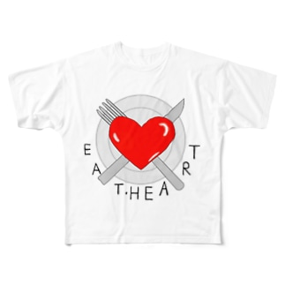 EAT・HEART  Full graphic T-shirts