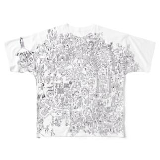 自粛カーニバル Full graphic T-shirts