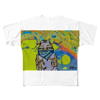 ホーミィくん Full graphic T-shirts