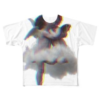 Glück No.7 絵画シリーズ Full graphic T-shirts