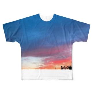 friday_panicの夕焼け Full graphic T-shirts