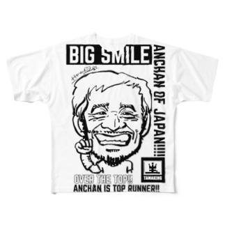 タマキングビッグフェイスTシャツ2‼︎ Full graphic T-shirts
