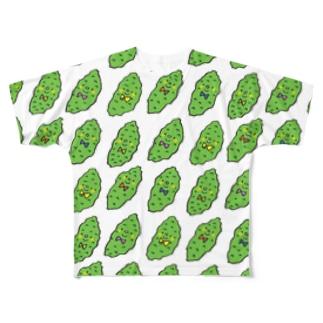 正装したゴーヤー Full graphic T-shirts