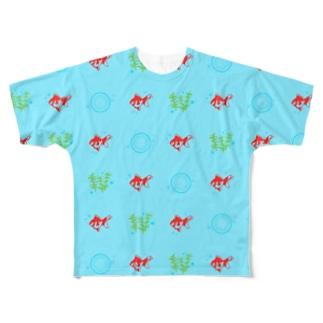 ムエックネの金魚 Full graphic T-shirts