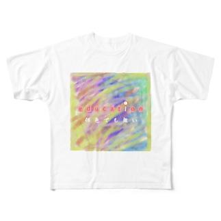 【Z世代T】朱交わってもあかくならない。-education- Full graphic T-shirts