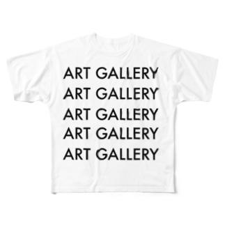 SHINYA AYAMAのART GALLERY Full graphic T-shirts
